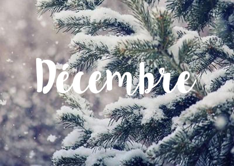 Les événements du mois de décembre 2019
