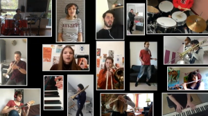 Projet de l'atelier de Musiques Actuelles pendant le confinement